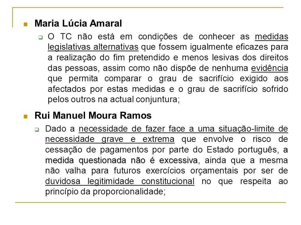 Maria Lúcia Amaral Rui Manuel Moura Ramos