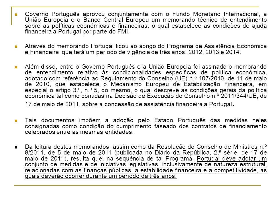 Governo Português aprovou conjuntamente com o Fundo Monetário Internacional, a União Europeia e o Banco Central Europeu um memorando técnico de entendimento sobre as políticas económicas e financeiras, o qual estabelece as condições de ajuda financeira a Portugal por parte do FMI.