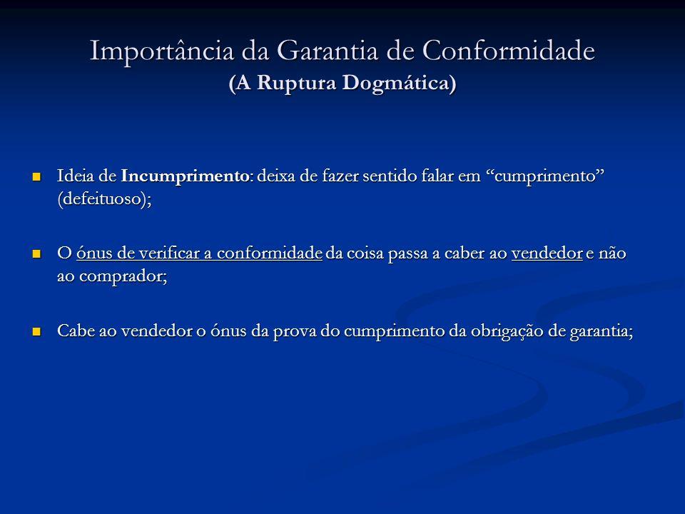 Importância da Garantia de Conformidade (A Ruptura Dogmática)