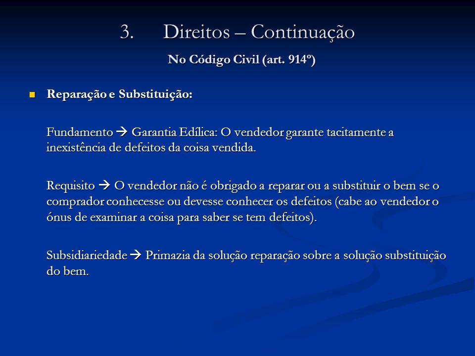 Direitos – Continuação No Código Civil (art. 914º)