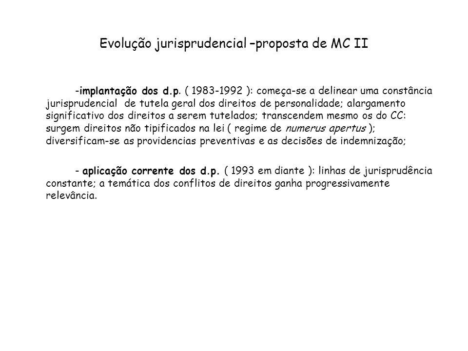 Evolução jurisprudencial –proposta de MC II