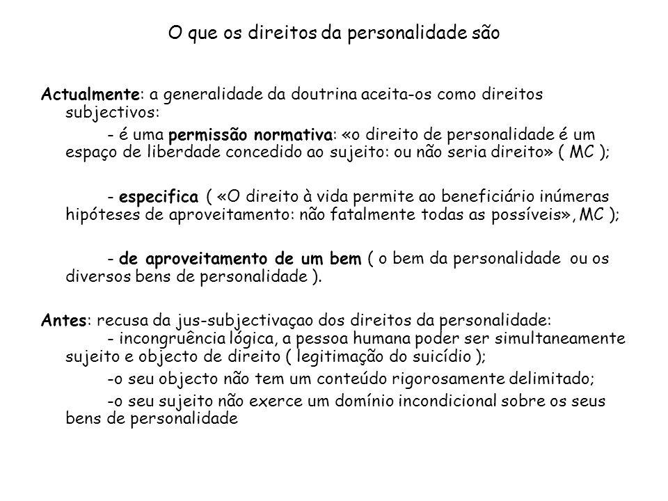 O que os direitos da personalidade são