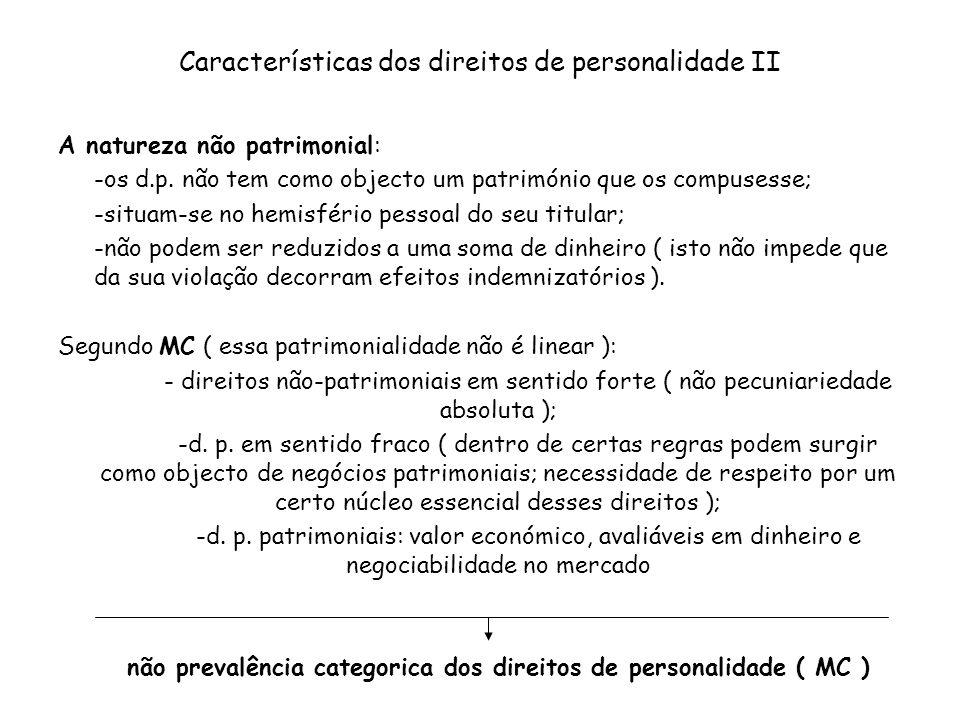 Características dos direitos de personalidade II