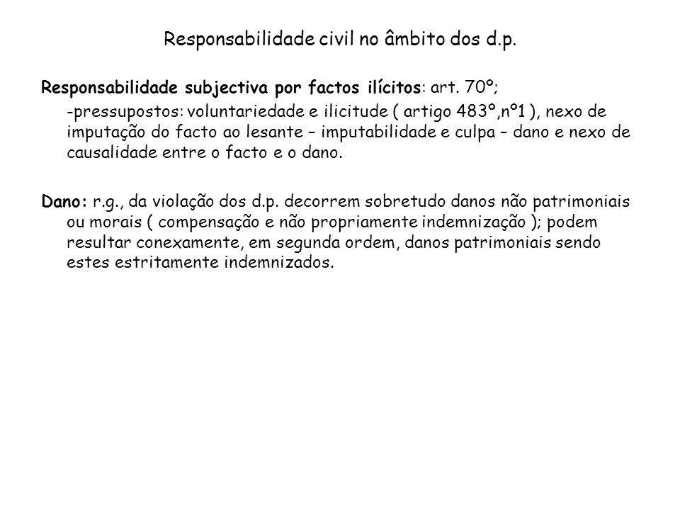 Responsabilidade civil no âmbito dos d.p.