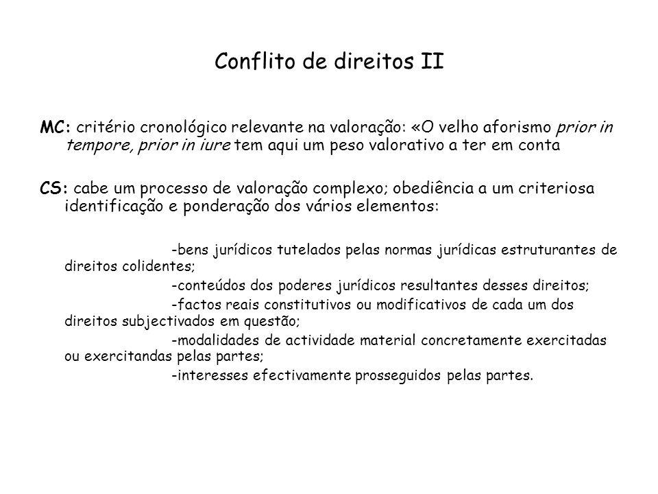 Conflito de direitos II