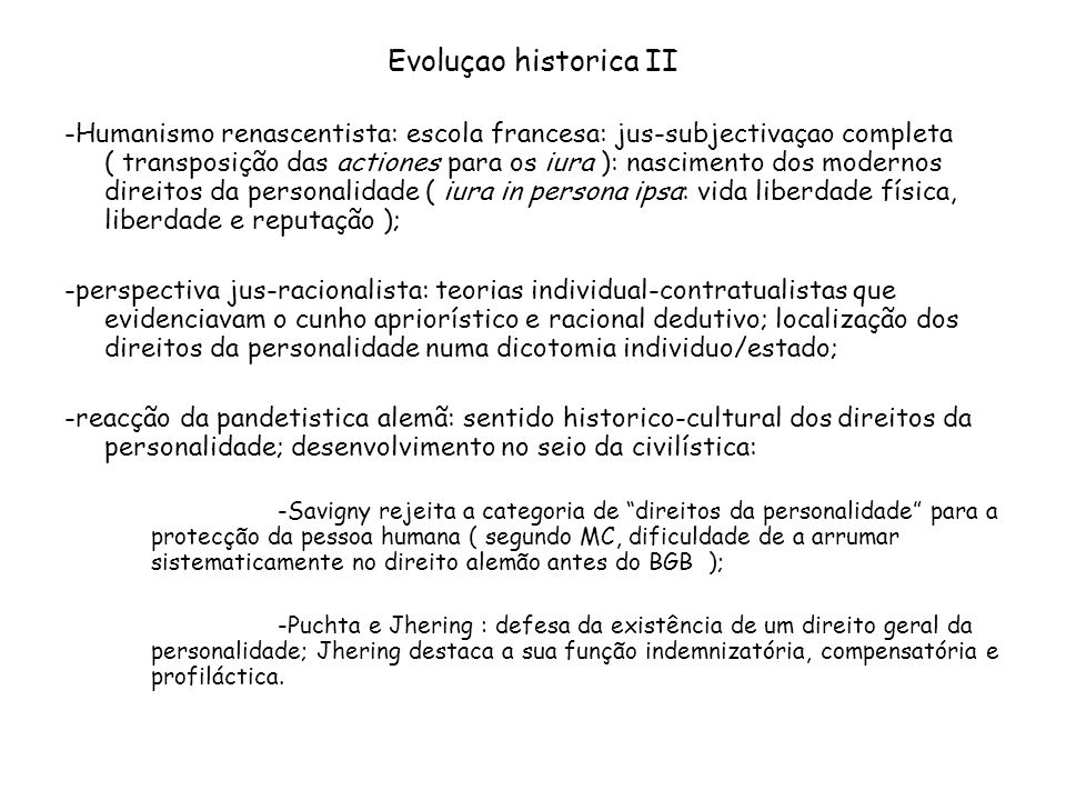 Evoluçao historica II