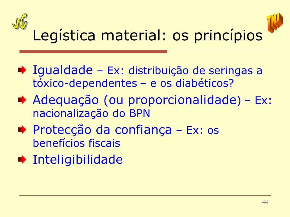 Legística material: os princípios