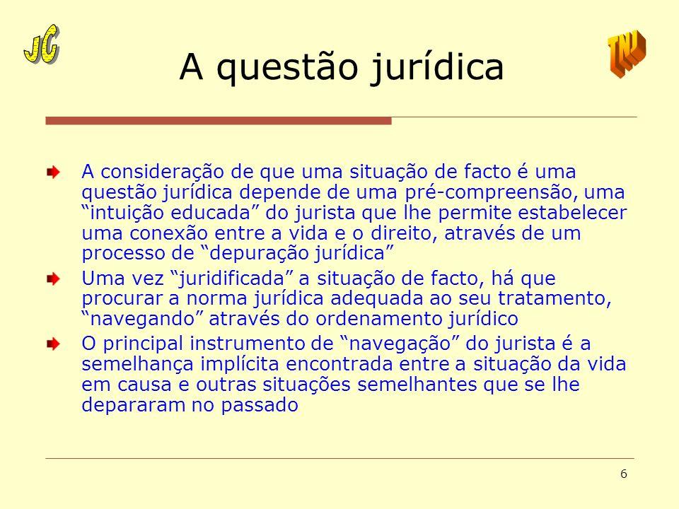 A questão jurídica JC JC TNJ