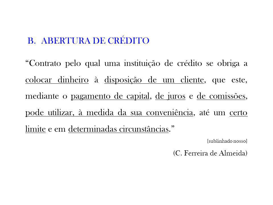 ABERTURA DE CRÉDITO