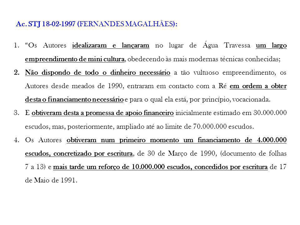 Ac. STJ 18-02-1997 (FERNANDES MAGALHÃES):