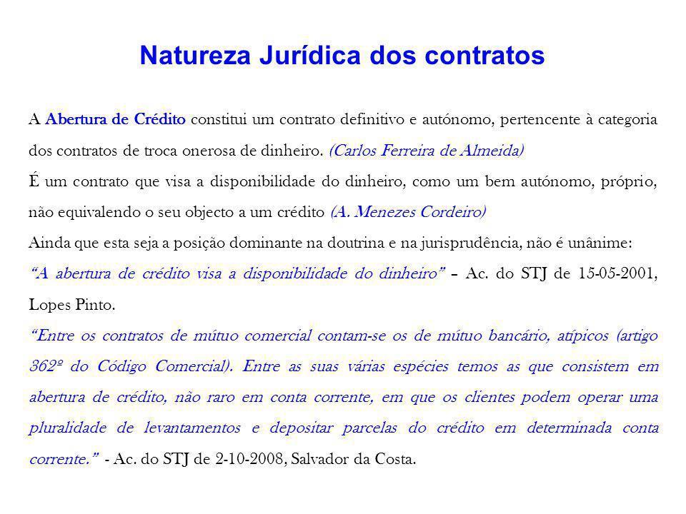Natureza Jurídica dos contratos