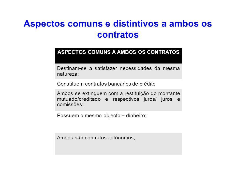 Aspectos comuns e distintivos a ambos os contratos
