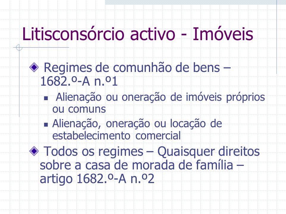 Litisconsórcio activo - Imóveis