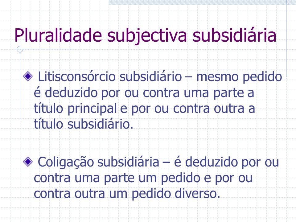 Pluralidade subjectiva subsidiária
