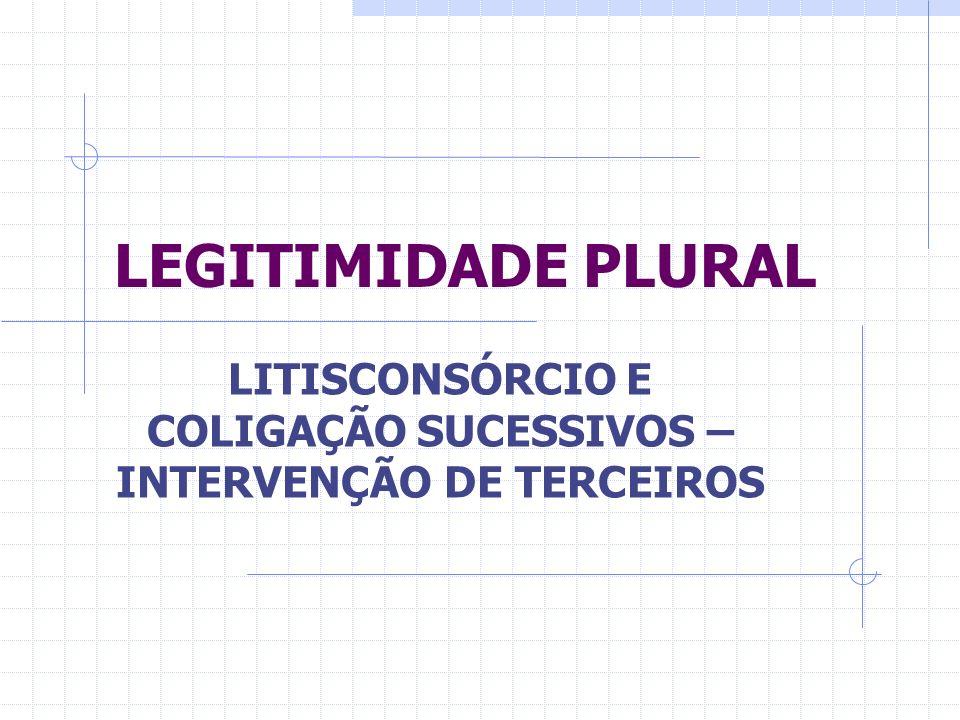 LITISCONSÓRCIO E COLIGAÇÃO SUCESSIVOS – INTERVENÇÃO DE TERCEIROS