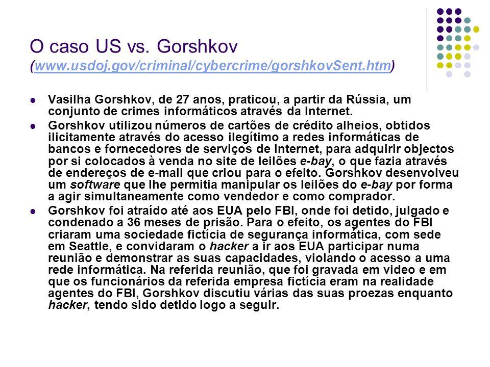O caso US vs. Gorshkov (www. usdoj