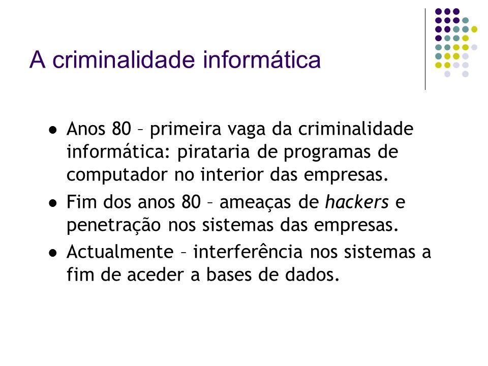 A criminalidade informática