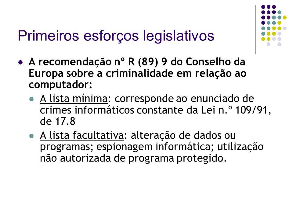 Primeiros esforços legislativos