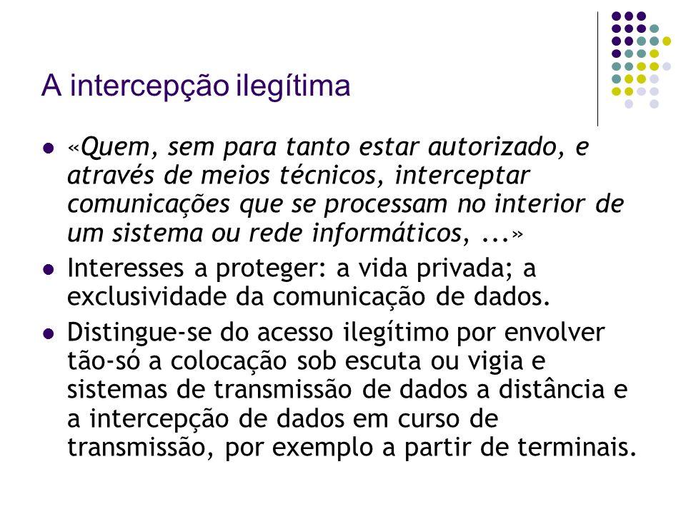 A intercepção ilegítima