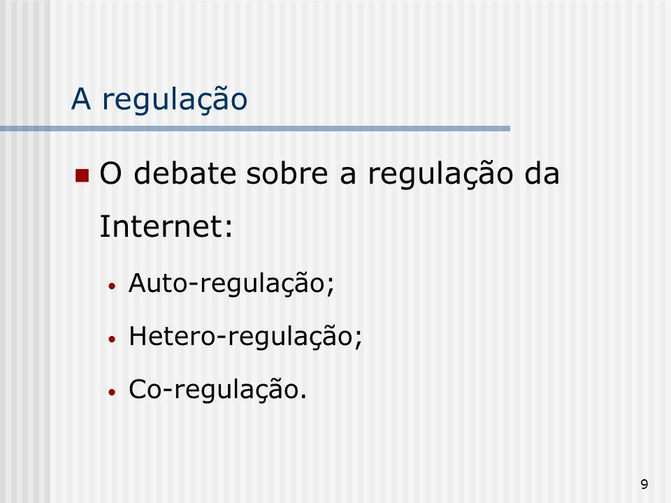 O debate sobre a regulação da Internet: