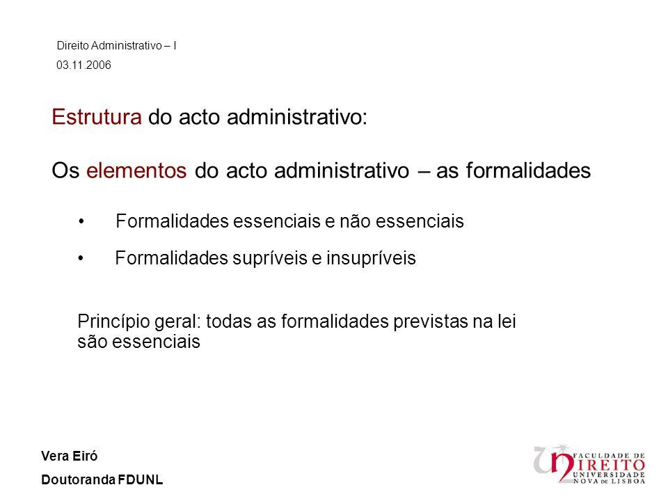 Direito Administrativo – I