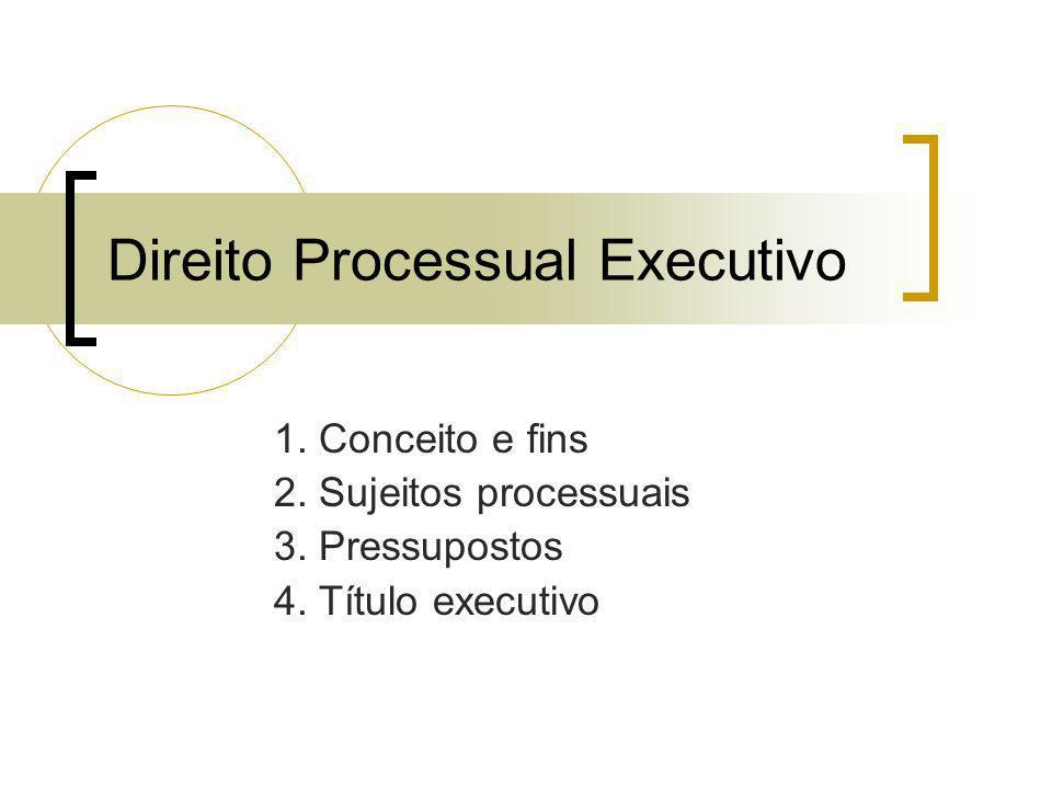 Direito Processual Executivo