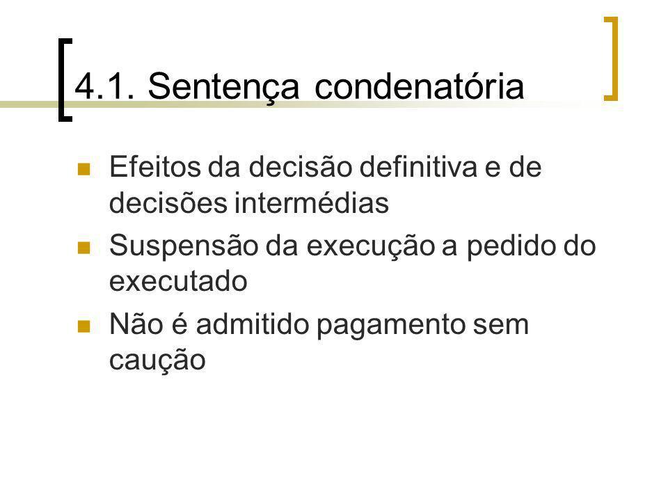 4.1. Sentença condenatória