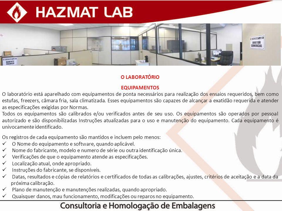 O Laboratório EQUIPAMENTOS.
