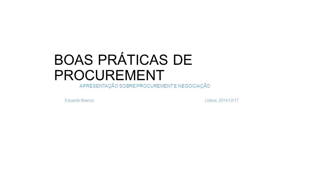 Eixos de atuação para a afirmação de uma área de Procurement