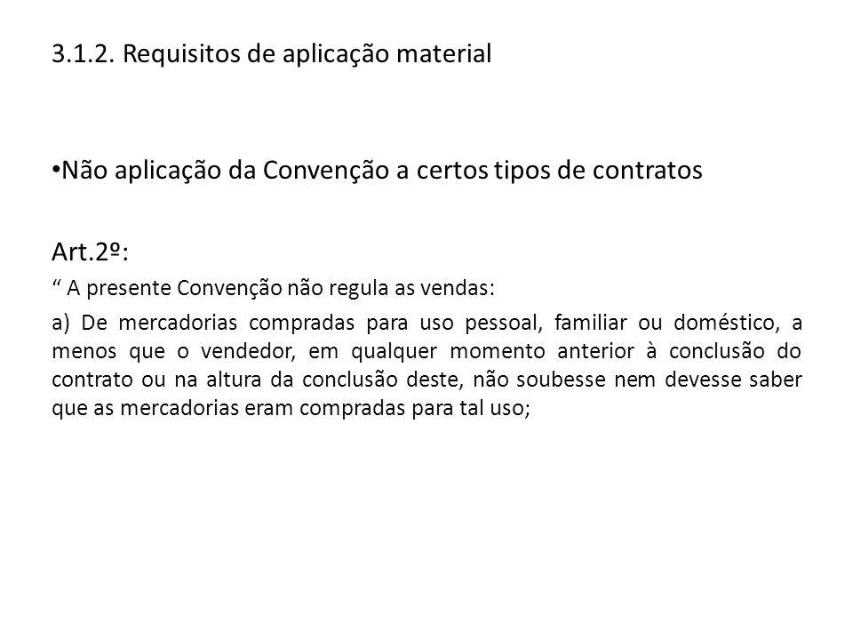 3.1.2. Requisitos de aplicação material
