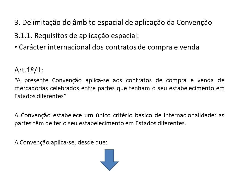 3. Delimitação do âmbito espacial de aplicação da Convenção