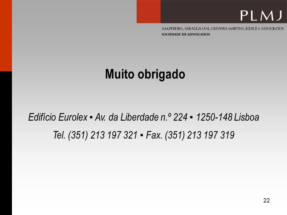 Edifício Eurolex ▪ Av. da Liberdade n.º 224 ▪ 1250-148 Lisboa