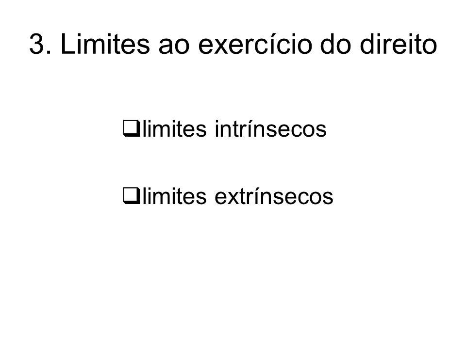 3. Limites ao exercício do direito