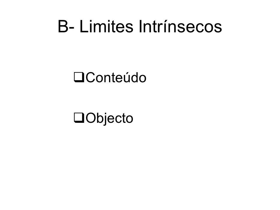 B- Limites Intrínsecos