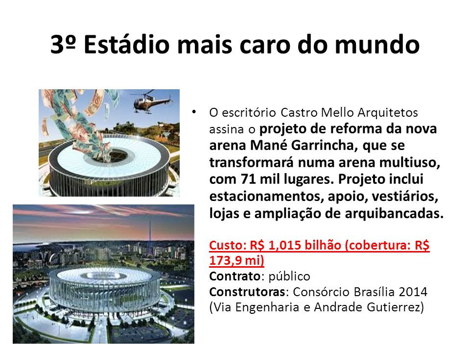 3º Estádio mais caro do mundo