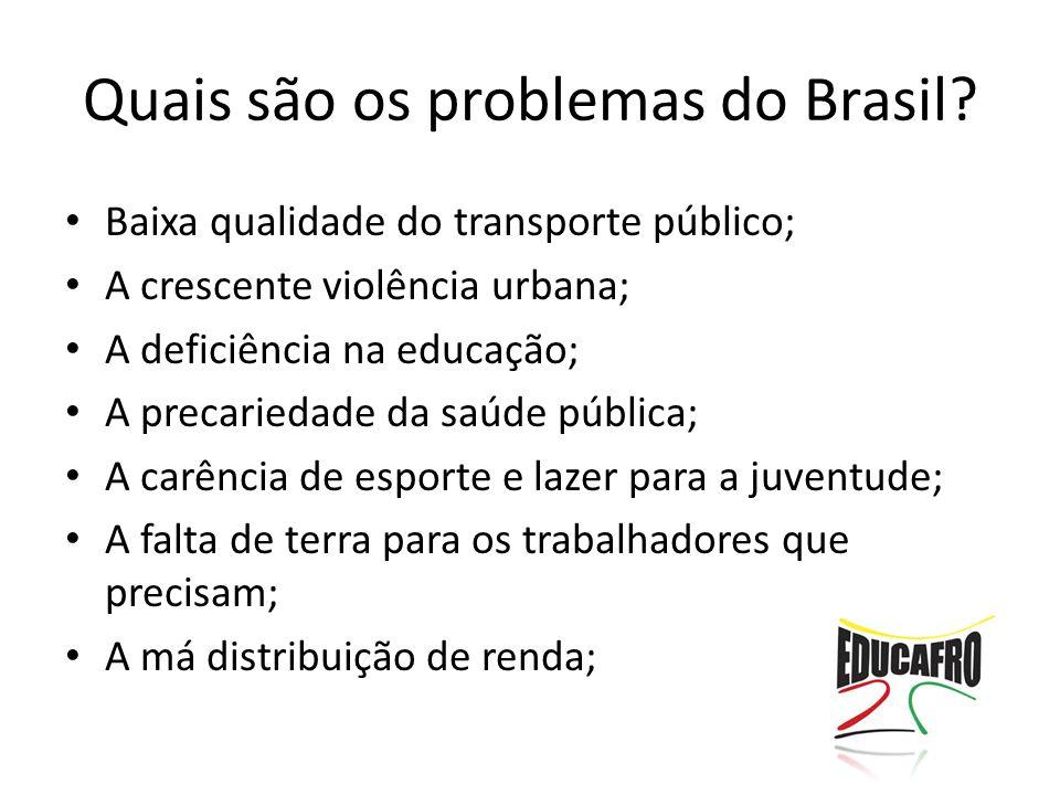 Quais são os problemas do Brasil