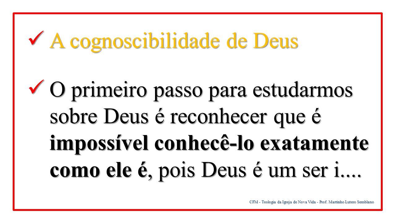 A cognoscibilidade de Deus