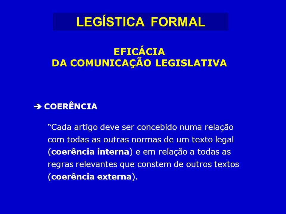 DA COMUNICAÇÃO LEGISLATIVA