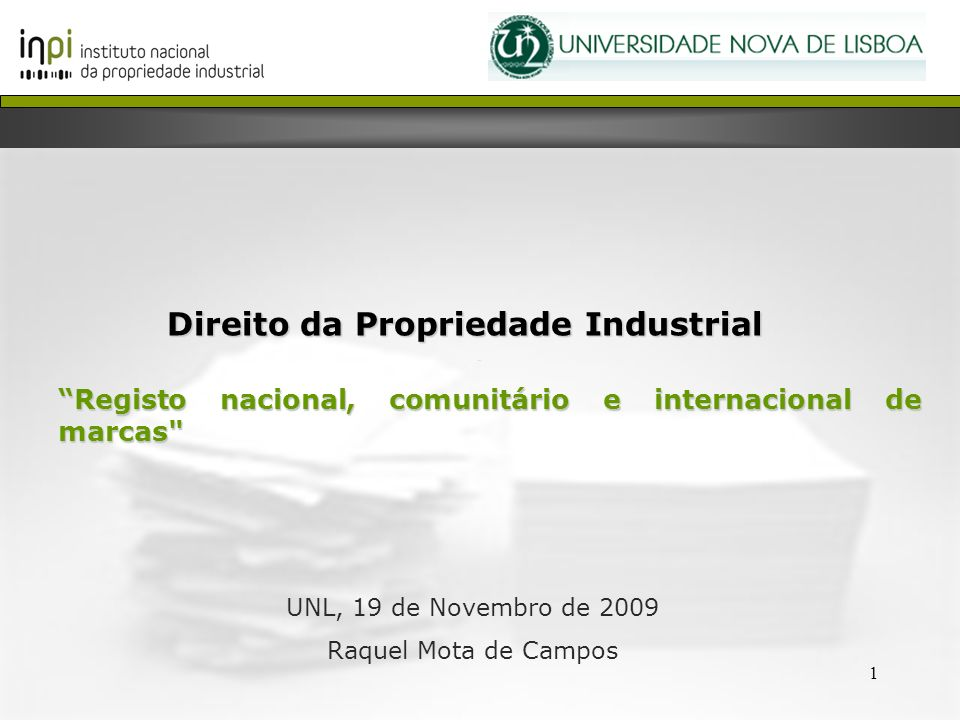 Direito da Propriedade Industrial