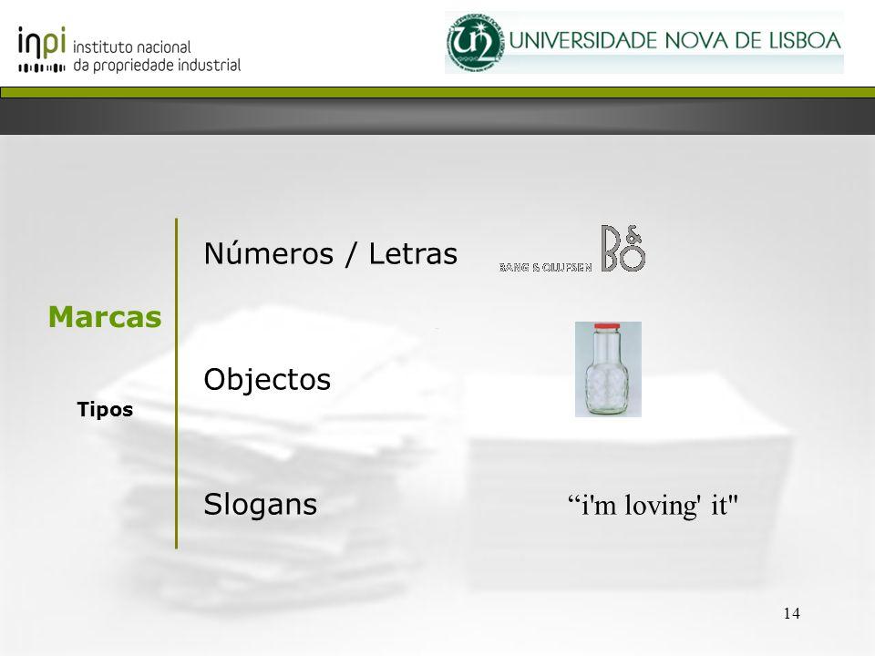 Números / Letras Objectos Slogans i m loving it Marcas Tipos 14 14