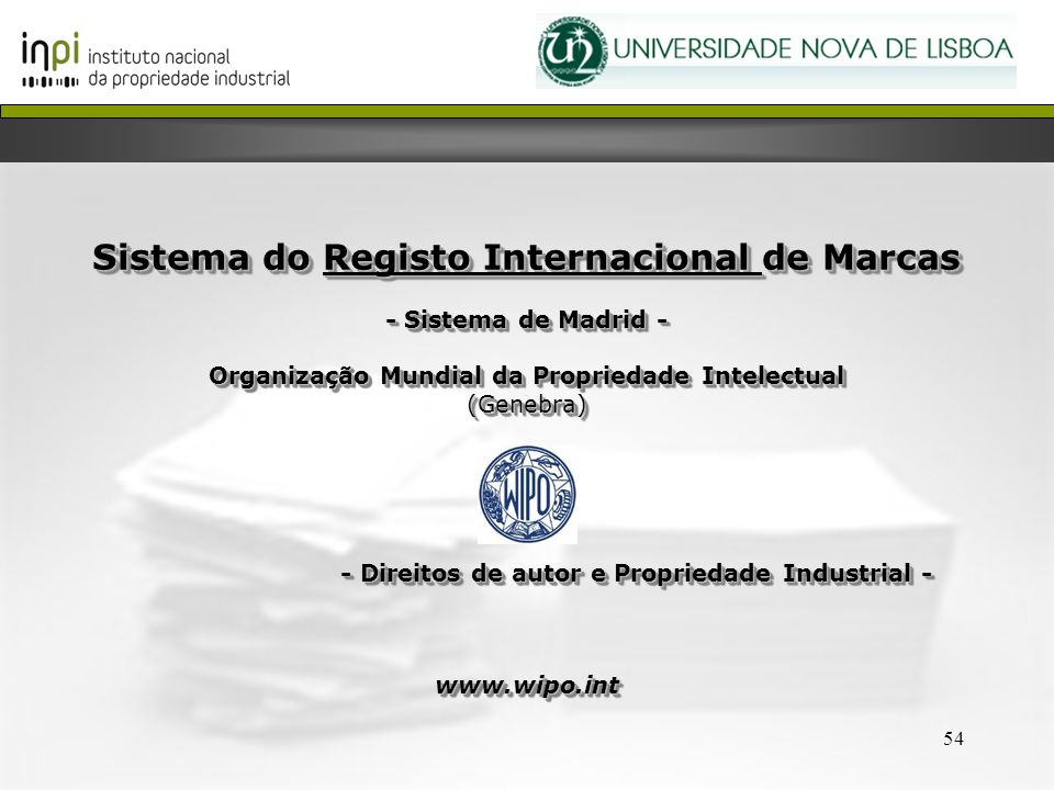 Sistema do Registo Internacional de Marcas