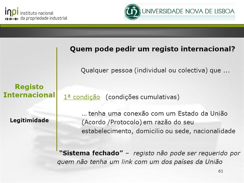 Quem pode pedir um registo internacional Registo Internacional