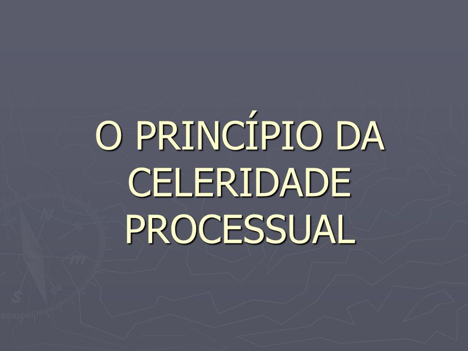 O PRINCÍPIO DA CELERIDADE PROCESSUAL
