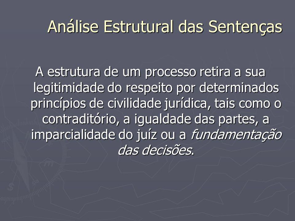 Análise Estrutural das Sentenças