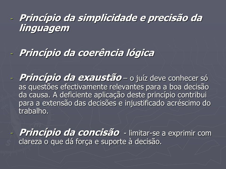 Princípio da simplicidade e precisão da linguagem