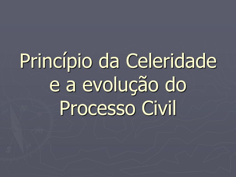 Princípio da Celeridade e a evolução do Processo Civil