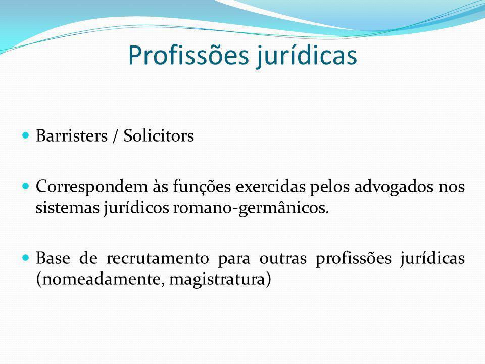 Profissões jurídicas Barristers / Solicitors