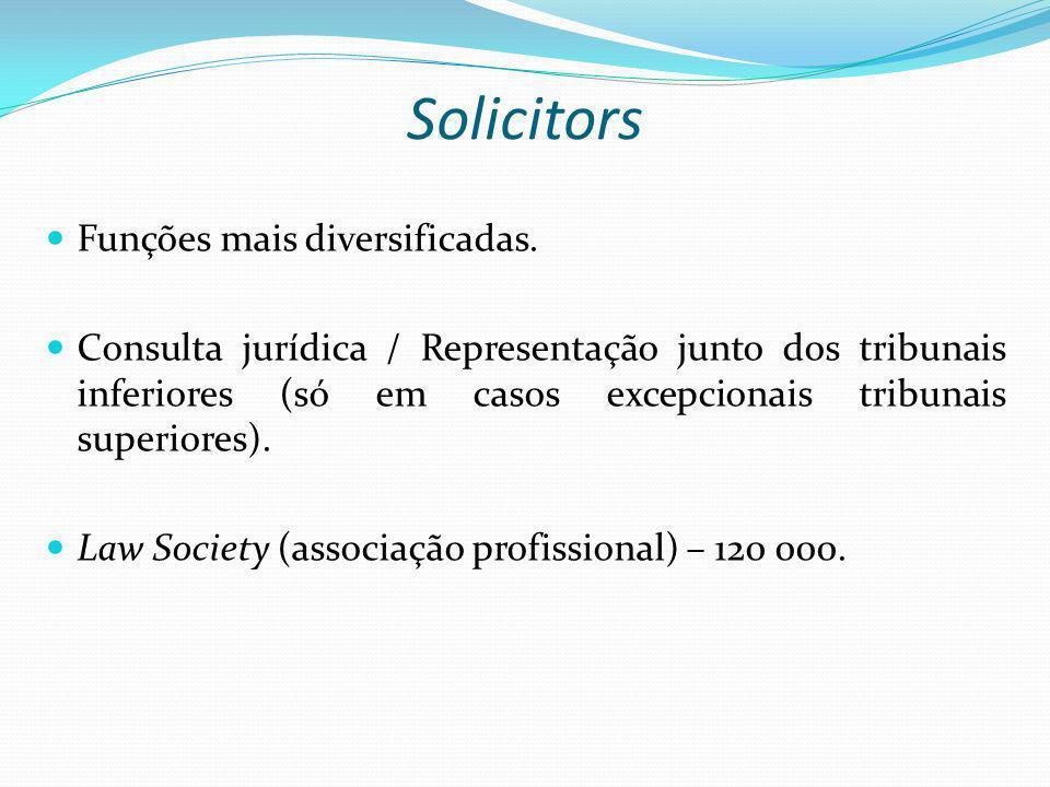 Solicitors Funções mais diversificadas.