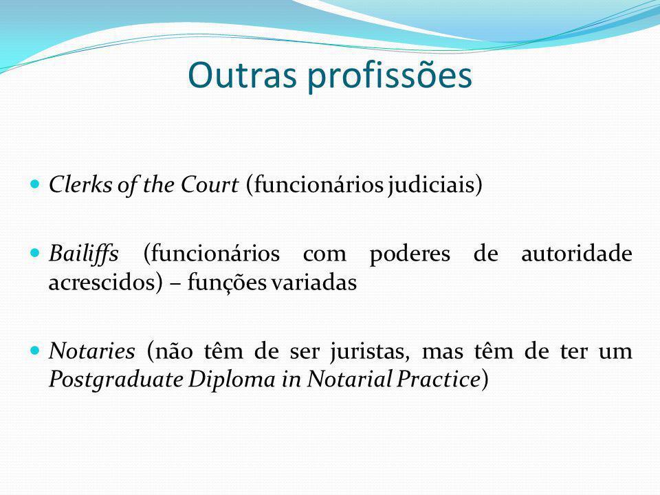 Outras profissões Clerks of the Court (funcionários judiciais)