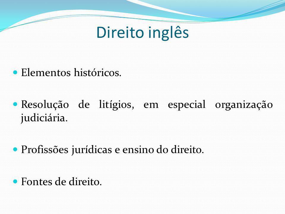 Direito inglês Elementos históricos.